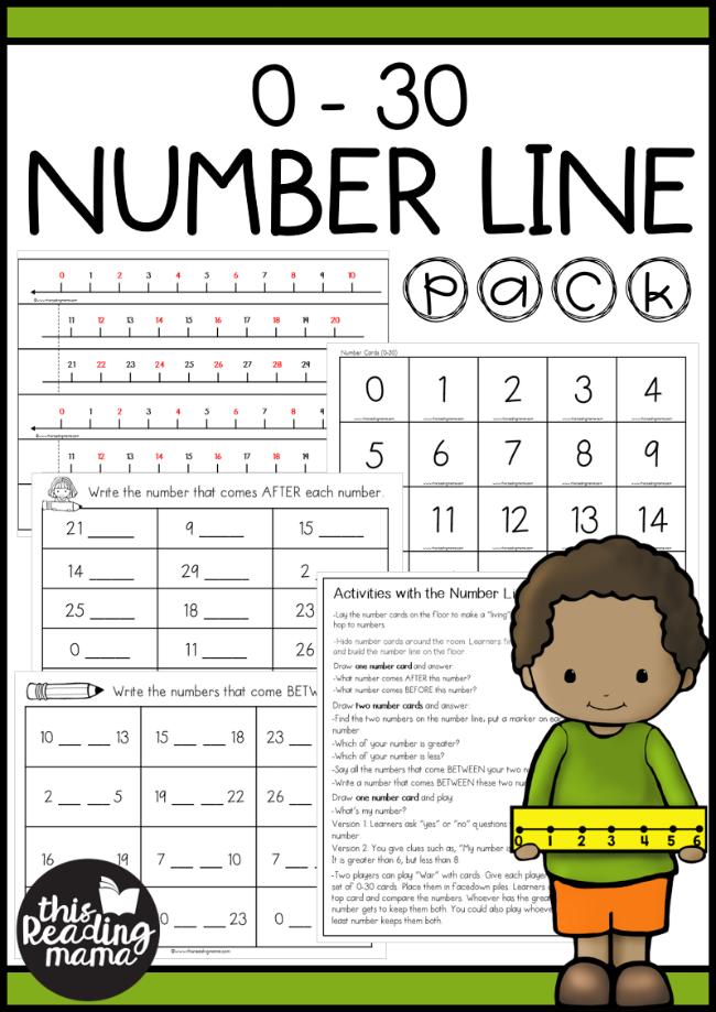 0-30 Number Line Activities Pack   Number line activities ...
