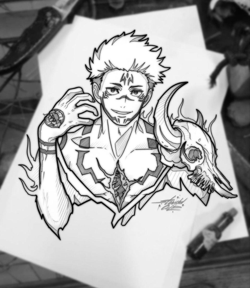 Sukuna Tatuagens De Anime Tatuagens Retro Tatuagens Criativas