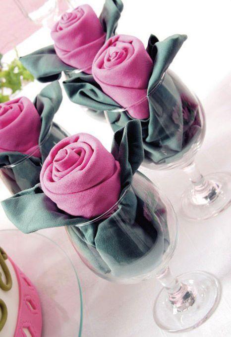 Wie man Rosetten-Servietten faltet #faltet #rosetten #servietten #diynapkinfolding