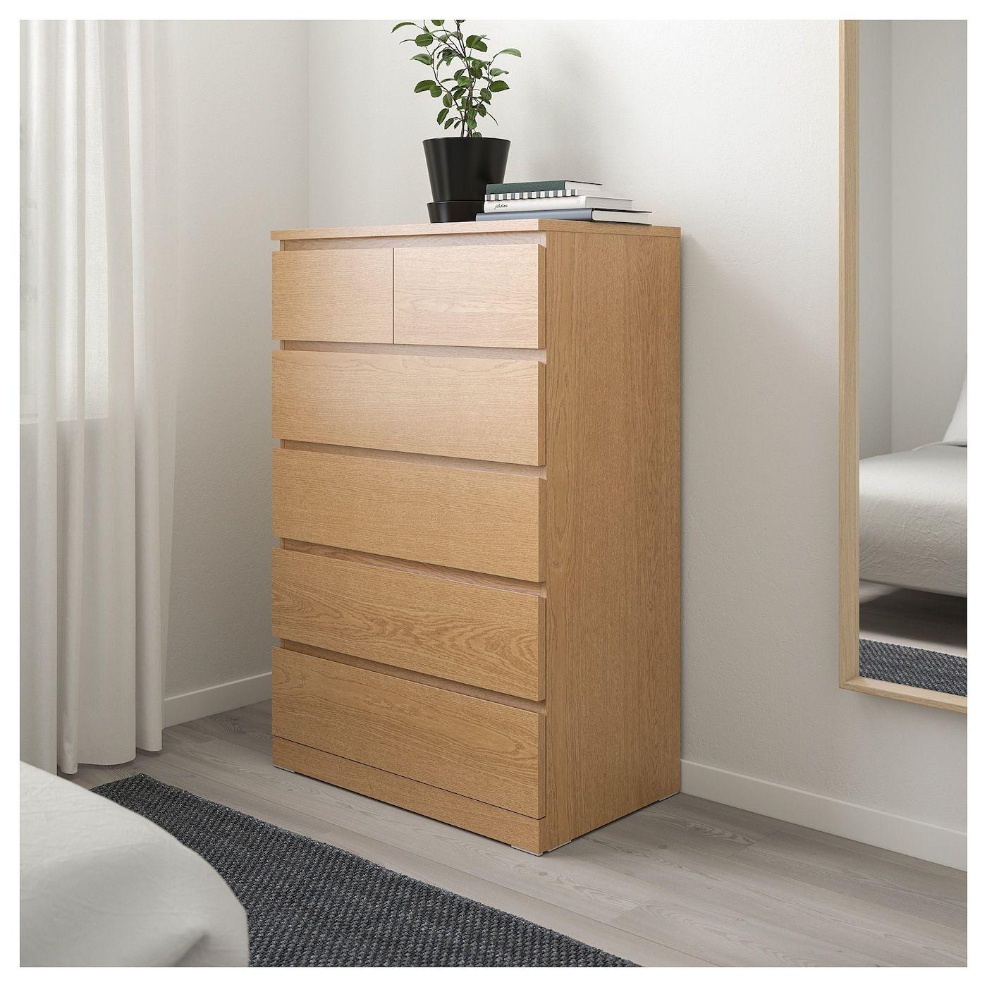 IKEA MALM Chest of 6 drawers | Malm
