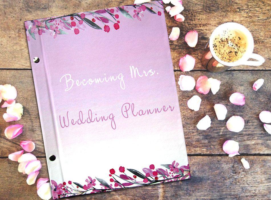 Wedding Planner Book Plan Your Big Day Engagement Gift Bride Notebook