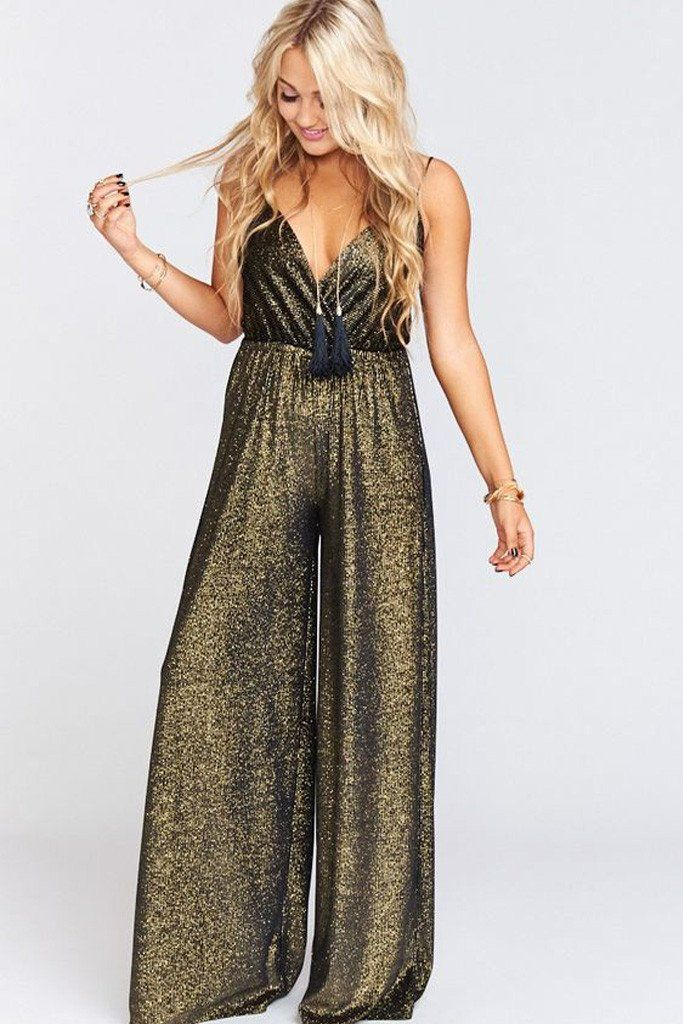 862e93c47be Jagger Jumpsuit in Golden Glam by Show Me Your Mumu - RENTAL in 2019 ...
