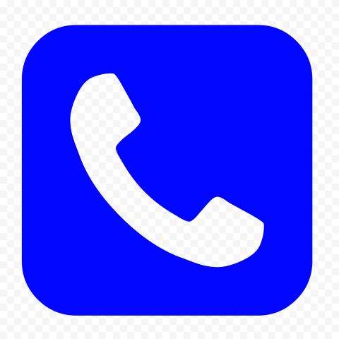 Hd Blue Square Phone Icon Png In 2021 Blue Square Phone Icon Icon