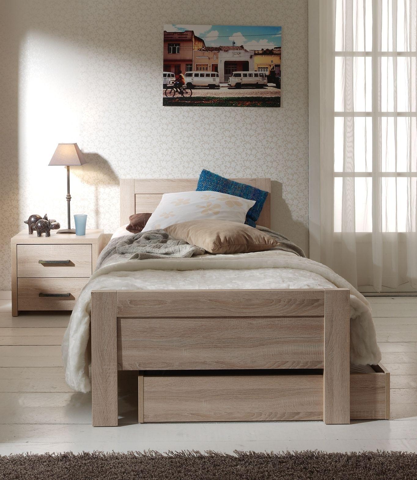 Set Aline best. aus Einzelbett 90x200, Bettschublade und