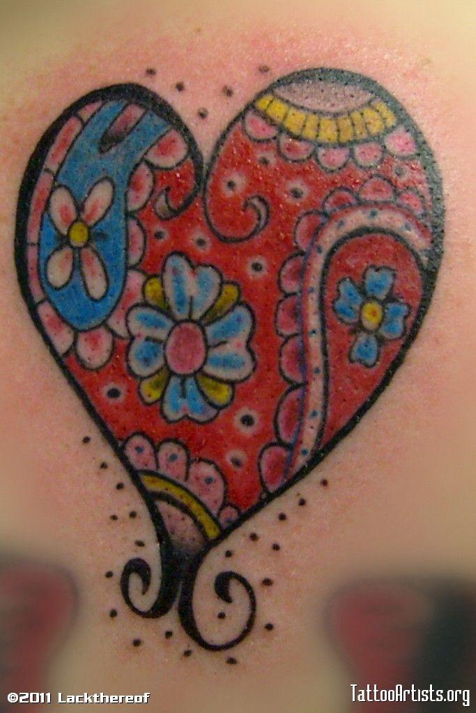 paisley heart tattoo tattooes pinterest paisley heart tattoos rh pinterest com Paisley Pattern Tattoos paisley heart tattoo
