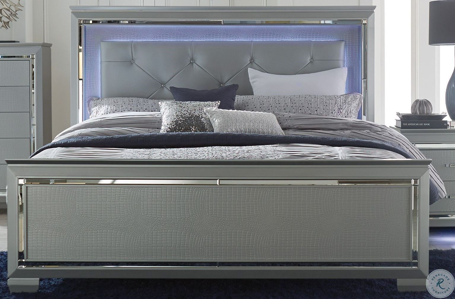 Allura Silver Queen Panel Bed in 2020 Led beds, Led bed
