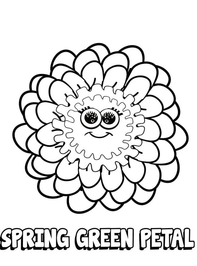 Girl Scout Day With Funny Symbols Coloring Pages Coloring For Kids