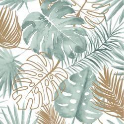 Papier peint Palmes Jungle – vert et cuivre – ESCAPADE Ugepa