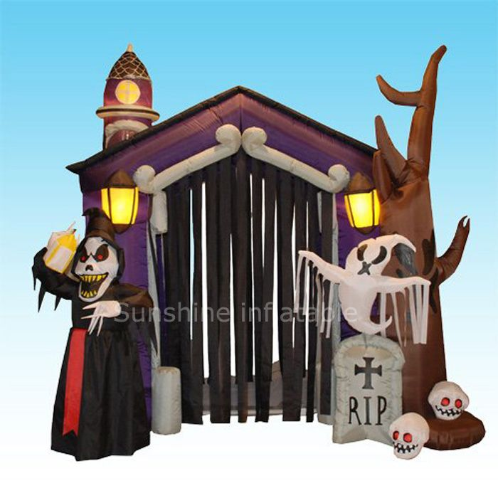Giant outdoor inflatable halloween arch,inflatable arch for