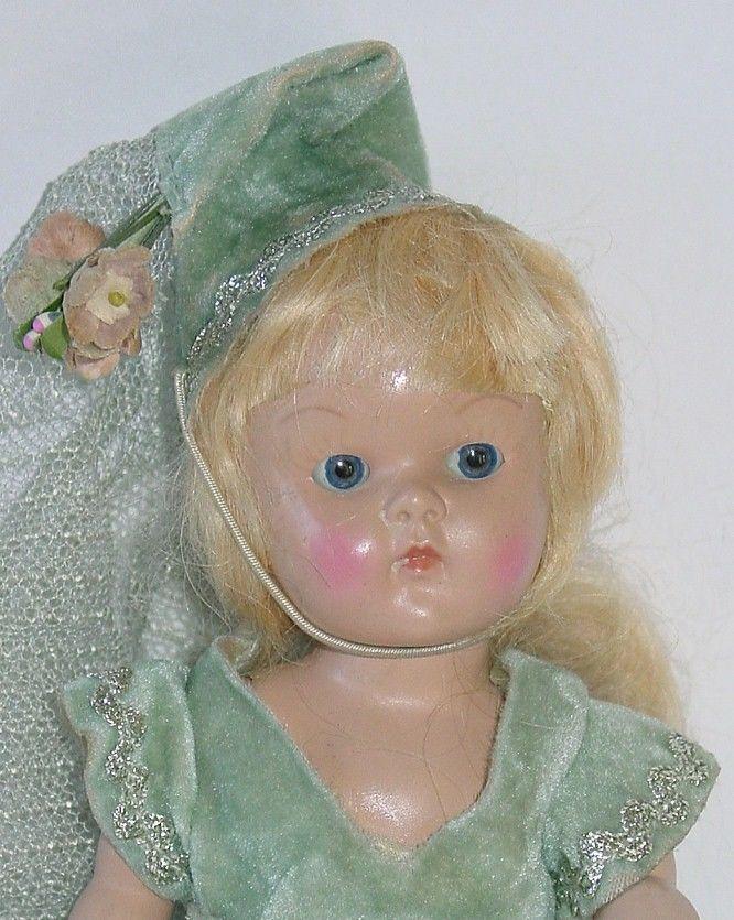 Vogue 1951 Strung TRANSITIONAL Ginny All Original Cinderella #DollswithClothingAccessories