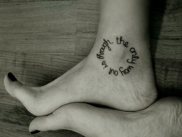 47 Small Meaningful Tattoos Ideas For Men And Women Ankle Tattoo Designs Foot Tattoo Quotes Tattoo Quotes