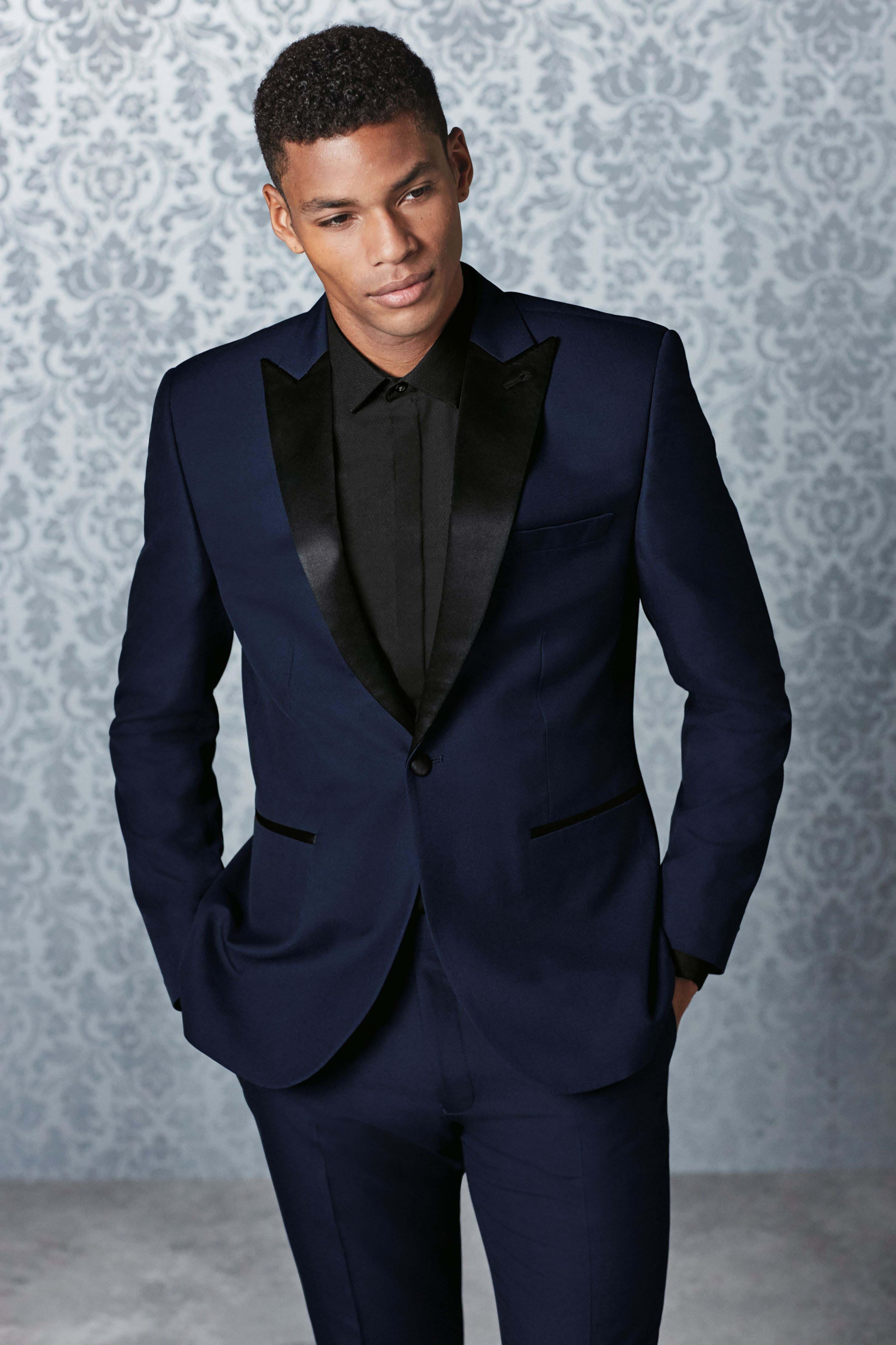 64512d114 Mens Next Tuxedo Suit Trousers - Blue | Mens formal wear | Suits ...