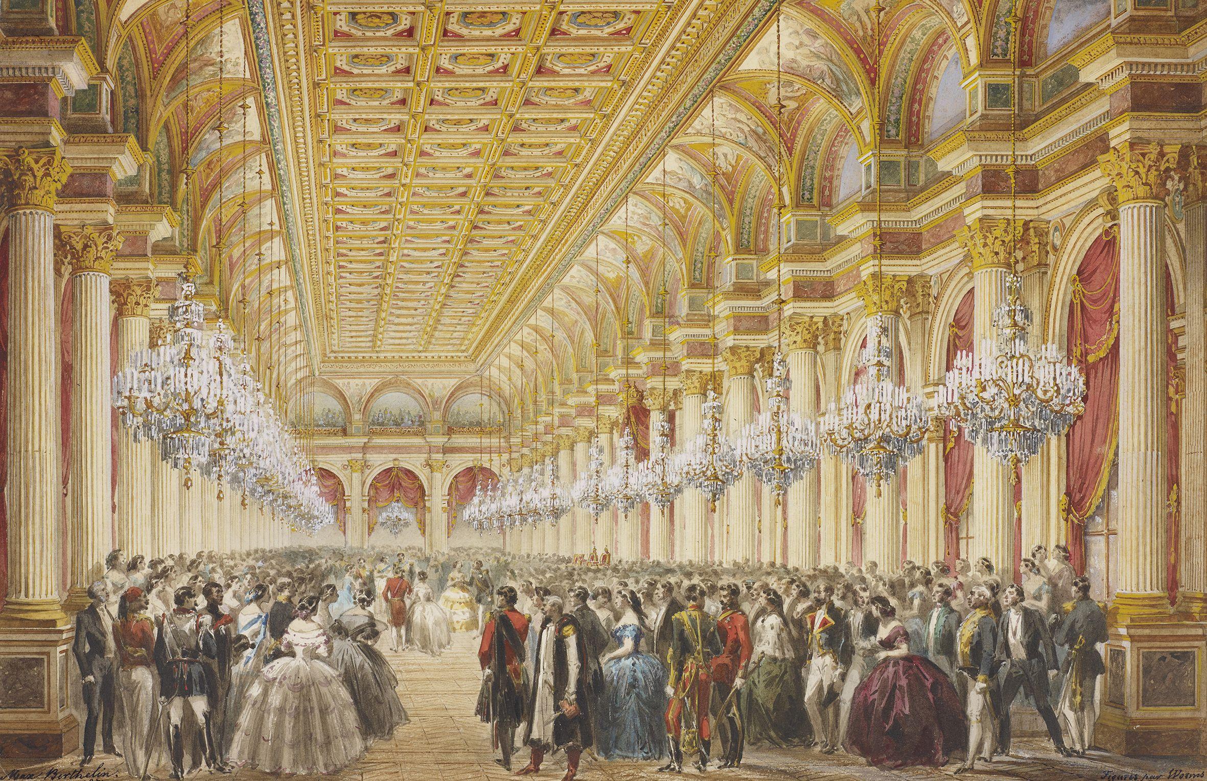 Imperial reception at the Hotel de Ville Paris