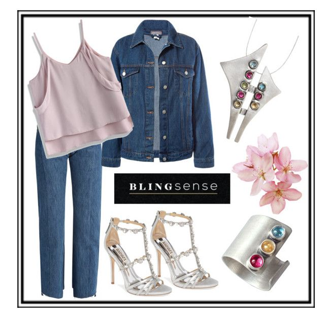 """""""Blingsense"""" by muskrosevintage ❤ liked on Polyvore featuring Vetements, Sans Souci, Badgley Mischka and Chicwish"""