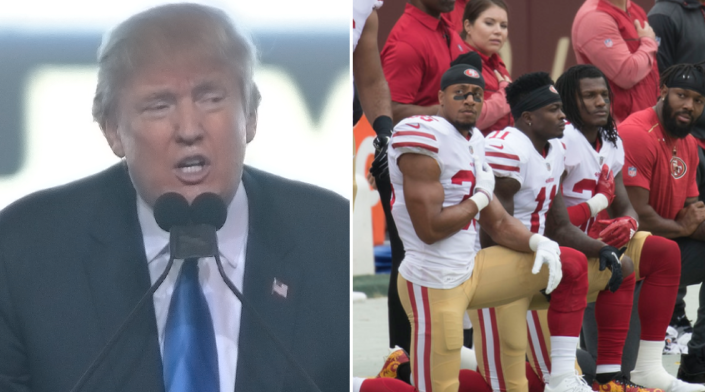 Trump releases viral photo to shame the NFL kneelers