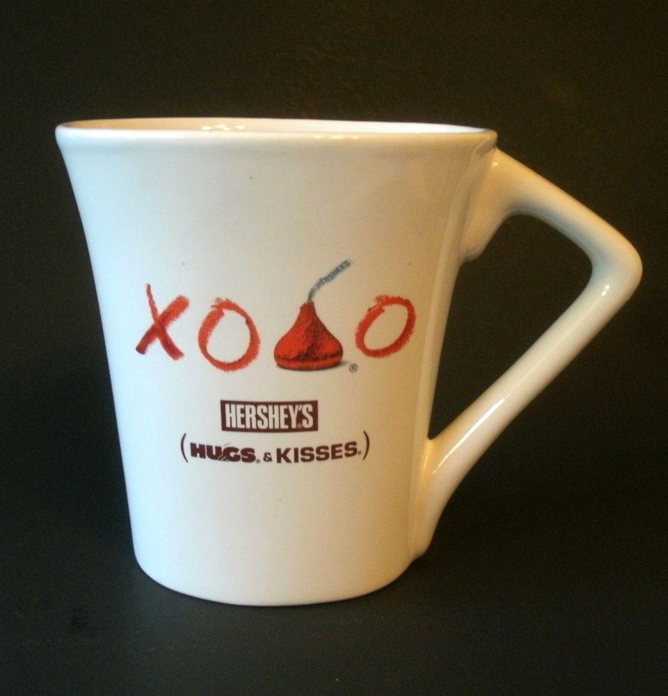 Hershey's Hugs & Kisses Mug Cup Oval Coffee Tea Hot Chocolate XOXO ...