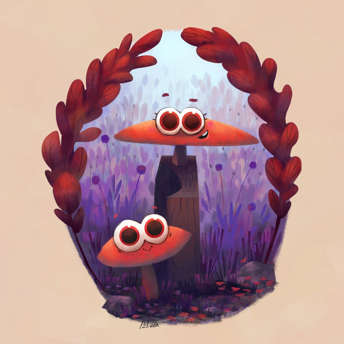 Little fungi friends on Behance
