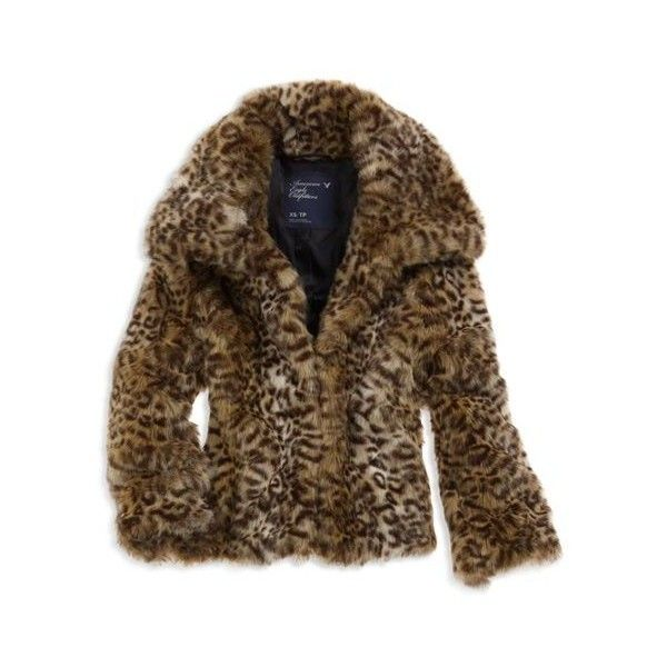 AE Women's Faux Fur Leopard Coat (Cheetah) ($90) ❤ liked on Polyvore featuring outerwear, coats, jackets, tops, clothing & accessories, leopard print faux fur coat, brown faux fur coat, imitation fur coats, cropped faux fur coat and cheetah faux fur coat