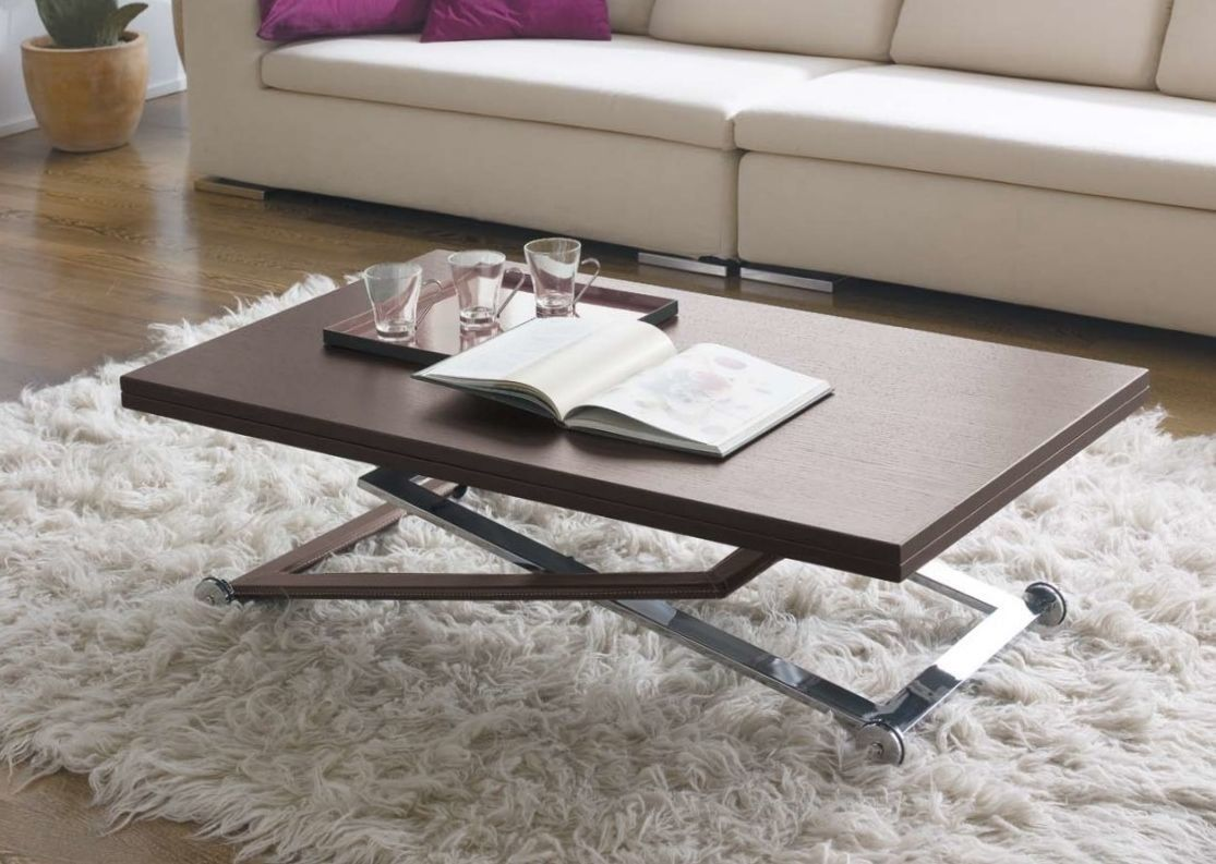 Mesa de centro elevable y extensible tiber acabada en - Mesas salon elevables ...