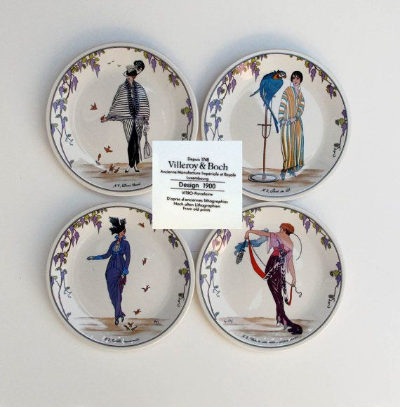 Villeroy and Boch set of four Dessert Plates by BlueRoseRetro