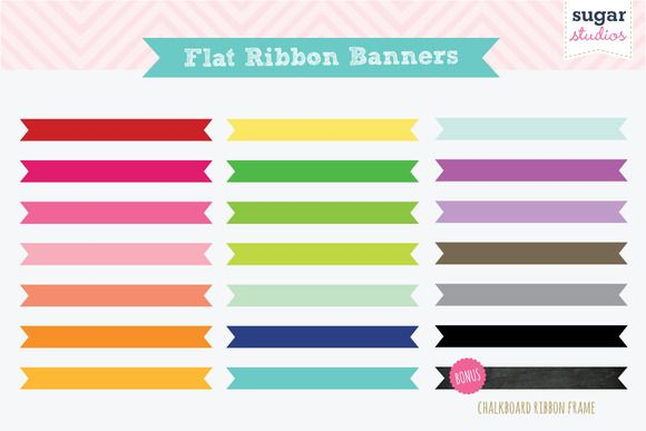 Check Out Flat Ribbon Banners By Sugarstudios On Creative Market