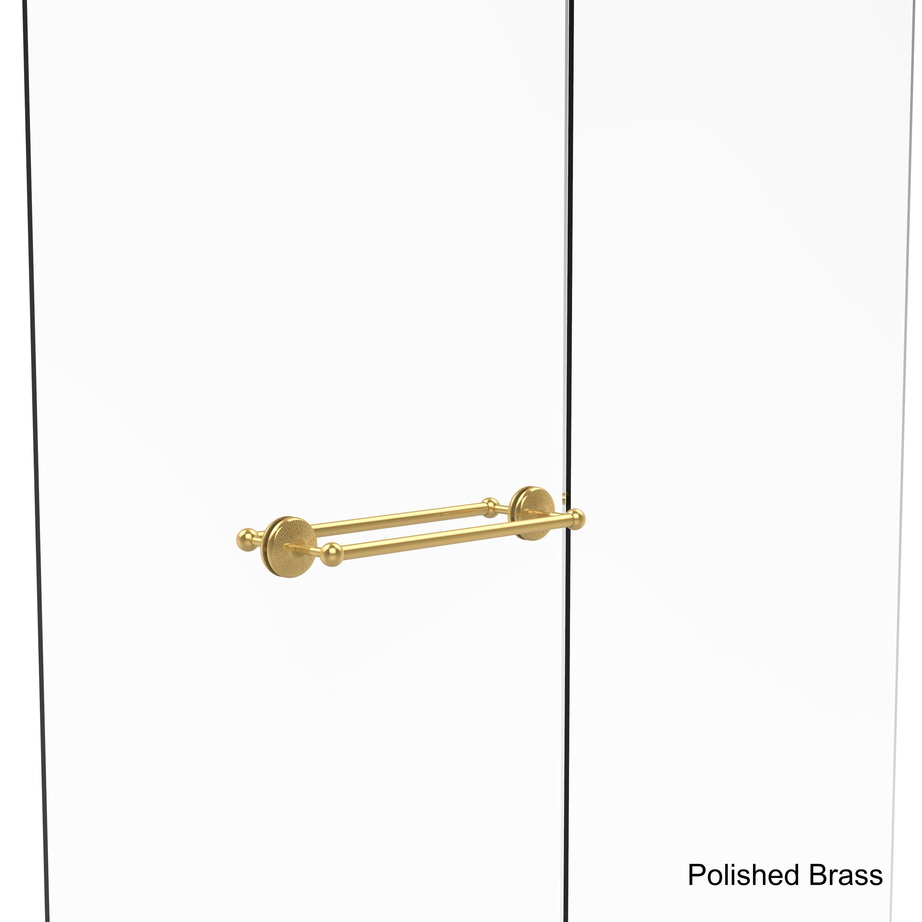 Allied Brass Monte Carlo Collection Brass 18-inch Back-to-back Shower Door Towel Bar (