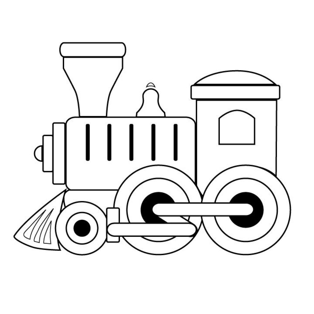 black and white train coloring pages toy train engine toy ...