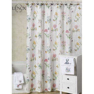 Lenox Butterfly Meadow Shower Curtain Butterfly Shower Curtain