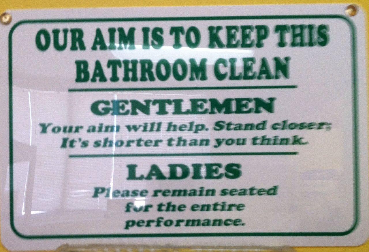 Image result for gas station bathroom sign