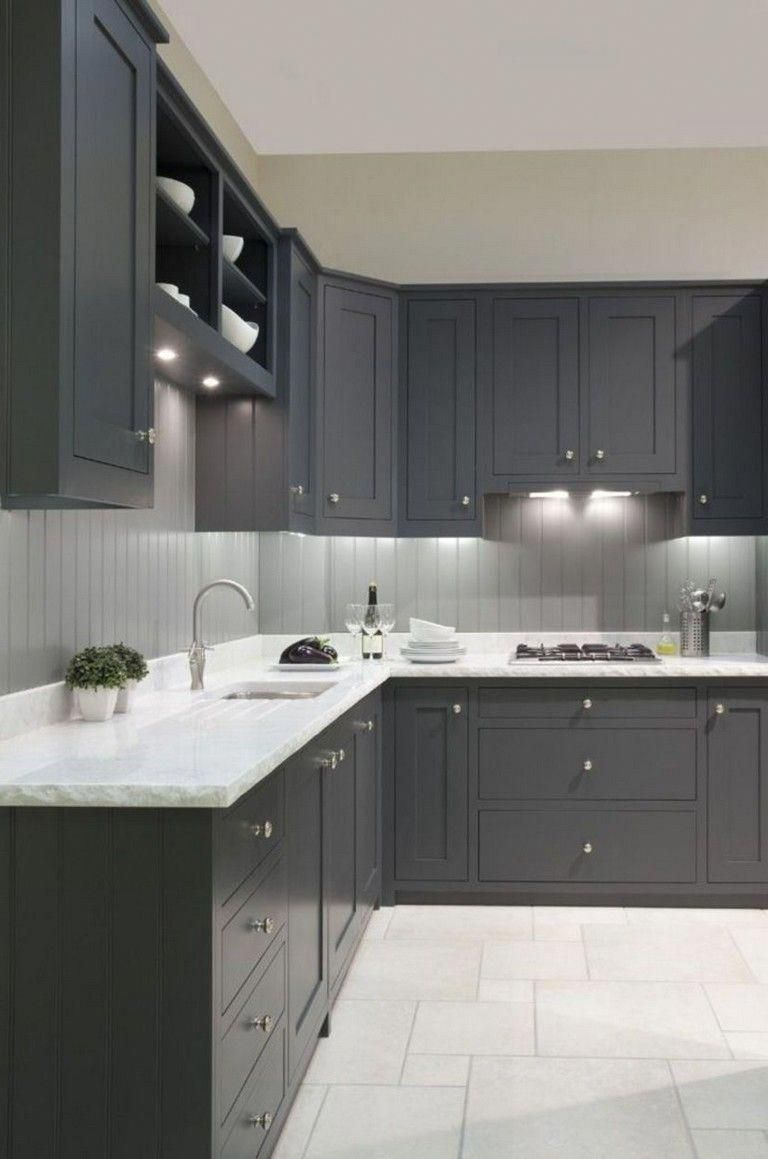 forty kitchens that use grey to attain contemporary and eternal designs mixing once teal wood on kitchen decor grey cabinets id=60843