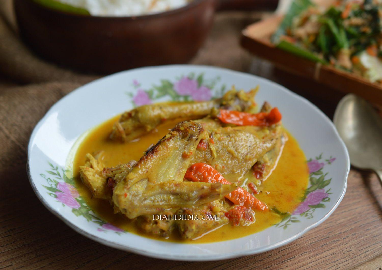 Ayam Lodho Nasi Gurih Urap Urap Makan Malam Masakan Resep Makanan