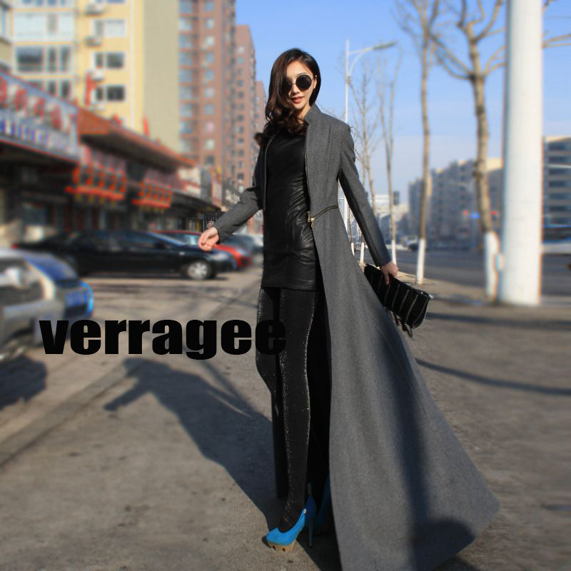 Floor Length Womens Coats, Two Wear Coats And Jackets For Women-in ...
