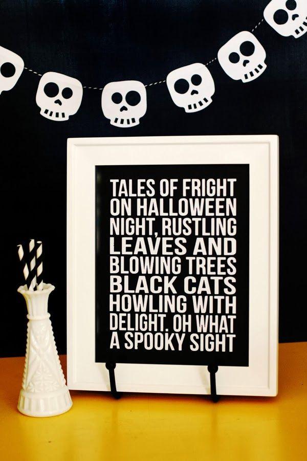 Tales of Fright Halloween decor + skull banner Home Pinterest