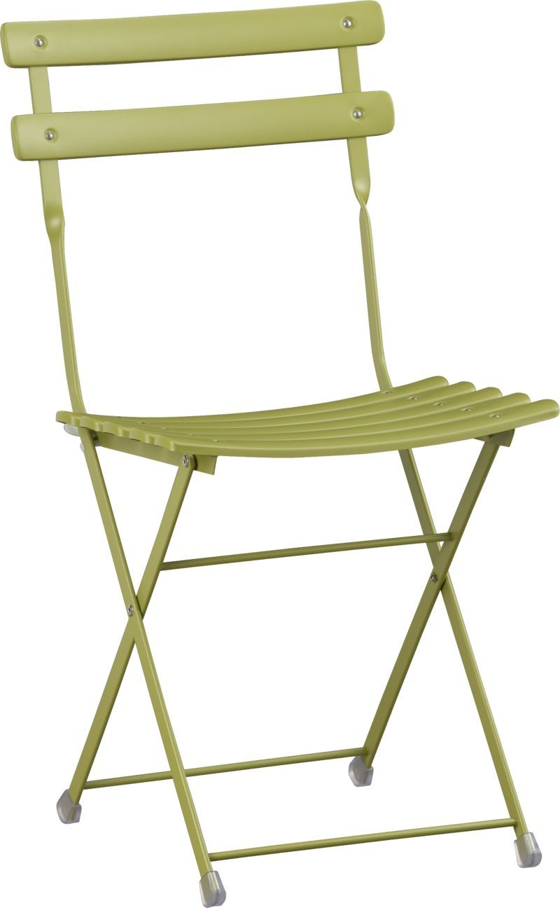 Crate And Barrel Pronto Green Folding Bistro Chair 80 In Store