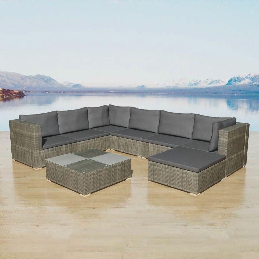 Outdoor Xl Lounge Rattan Set Corner Sofa Table Patio Garden Furniture Seat Grey Garden Sofa Set Garden Sofa Corner Sofa Set
