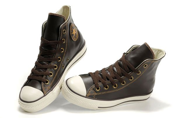 womens brown leather converse