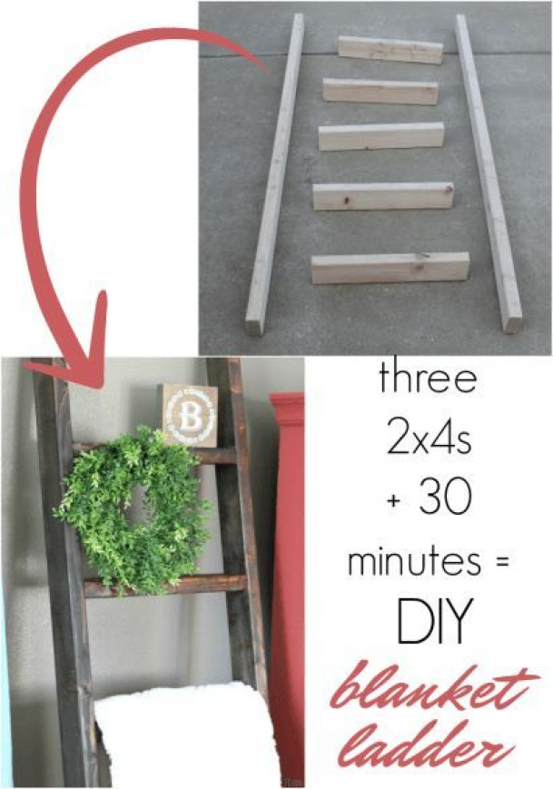 How to Make a DIY Blanket Ladder for Just 10 diywoodwork
