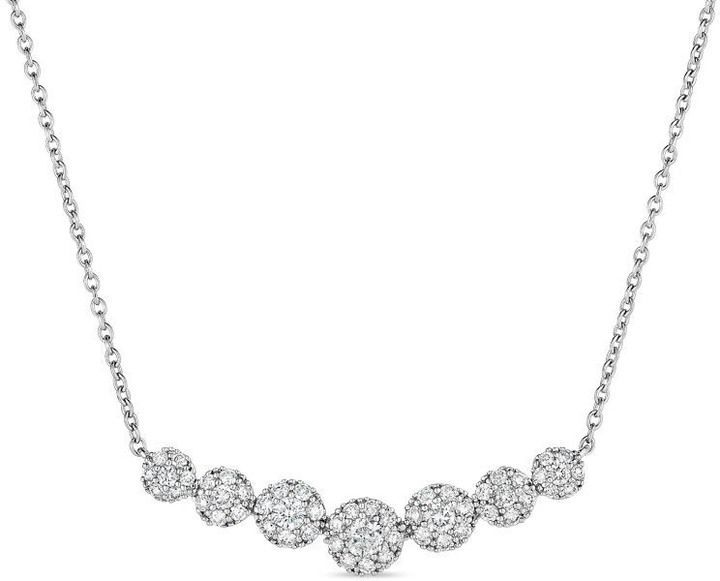 9c34eb23b7644 5 8 CT. T.W. Diamond Curved Bar Necklace in 10K White Gold - 16 ...