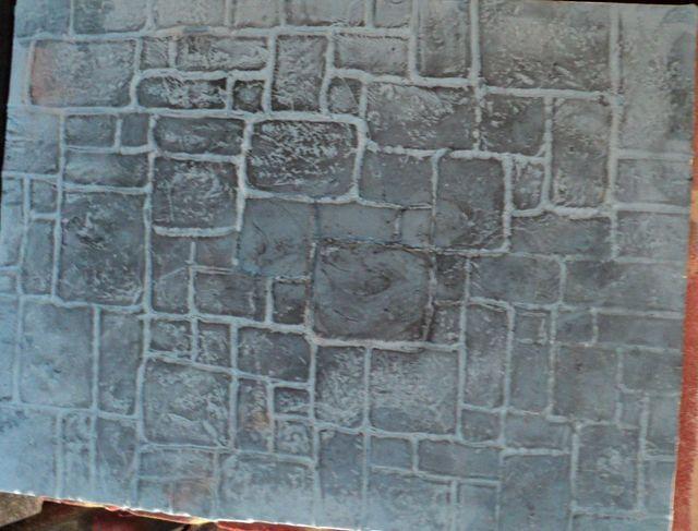 como hacer suelo de piedra en fondant