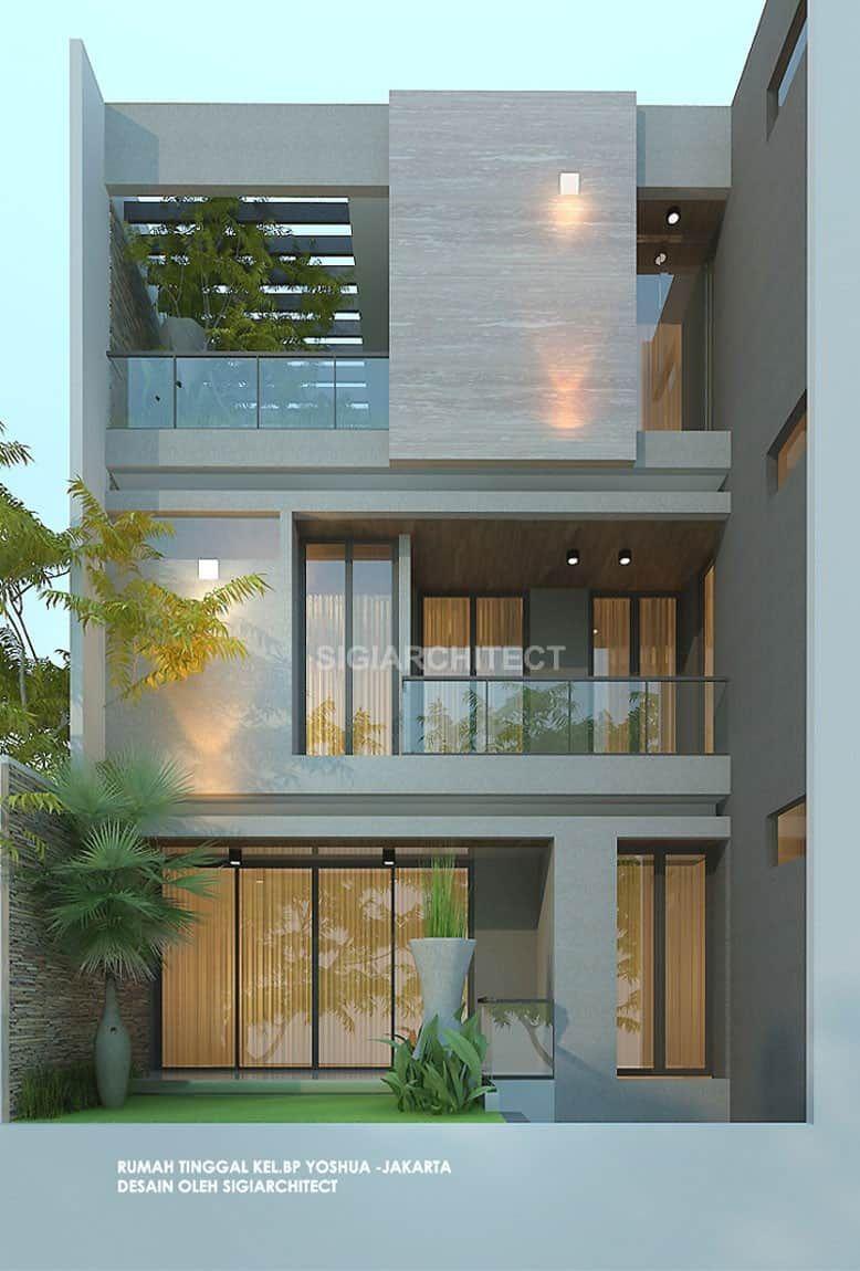 Rumah Minimalis 3 Lantai Fasad Modern Mewah Di 2020 Arsitektur Rumah Minimalis Rumah