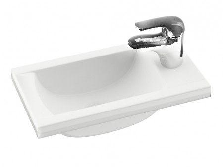 Badezimmer Becken ~ Mineralguss mini waschbecken cm weiß im lieferumfang nur