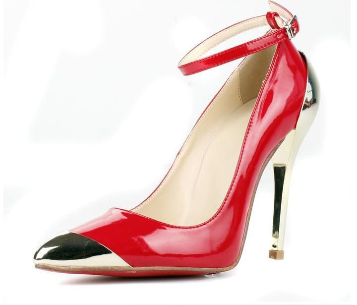 2013 newest fashion women shoes, glitter heel red pointed toe brand fashion pumps,size 4-10