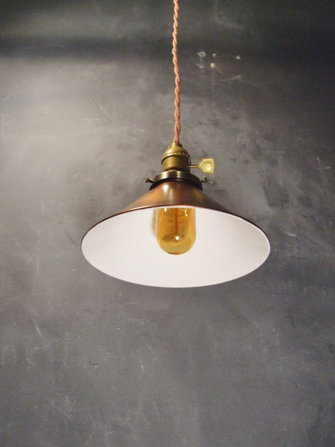 Steel Cone Pendant Lamp Lamps, Lighting Decorative Arts Vintage Industrial Hanging Light