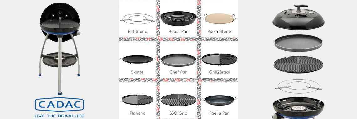 Cadac Carri Chef Deluxe.The Portable Cadac Carri Chef Combo Bbq With Chef Pan Offers You