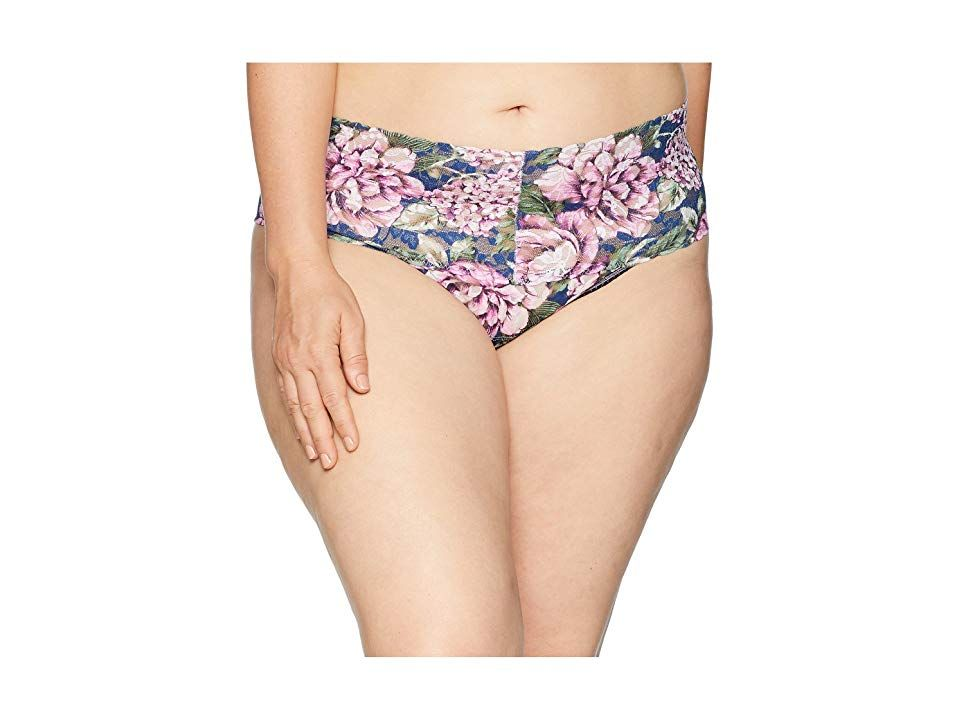 19a326418c Hanky Panky Plus Size Florentina Retro Thong (Multi) Women s Underwear.  Dress glamorously from the inside out in a Hanky Panky Retro Thong.