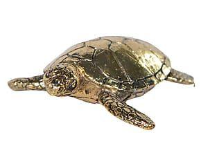 Decoratieve schildpad Amy, goud, L 8 cm