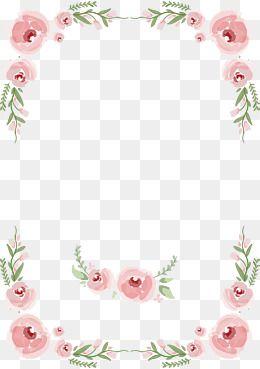 Floral Vector Border For Wedding Png