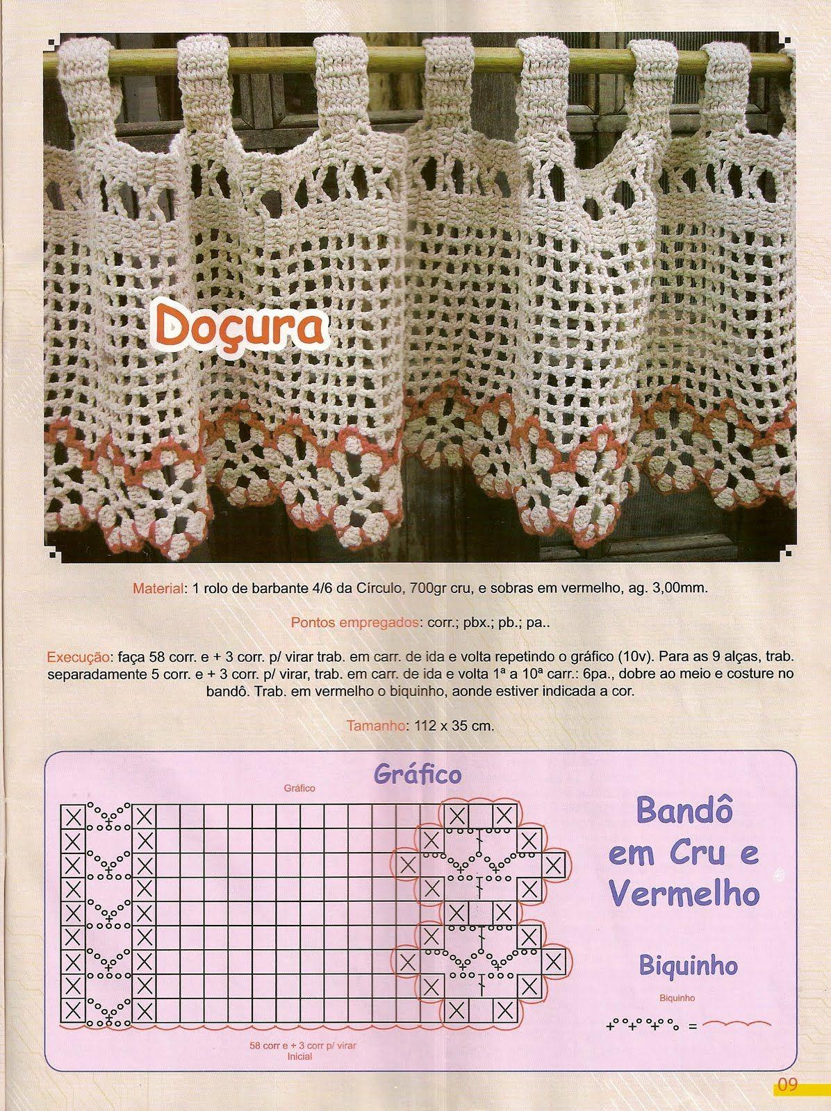 Cortinas De Croche Dois Modelos De Band Para Cortinas Pois Toda