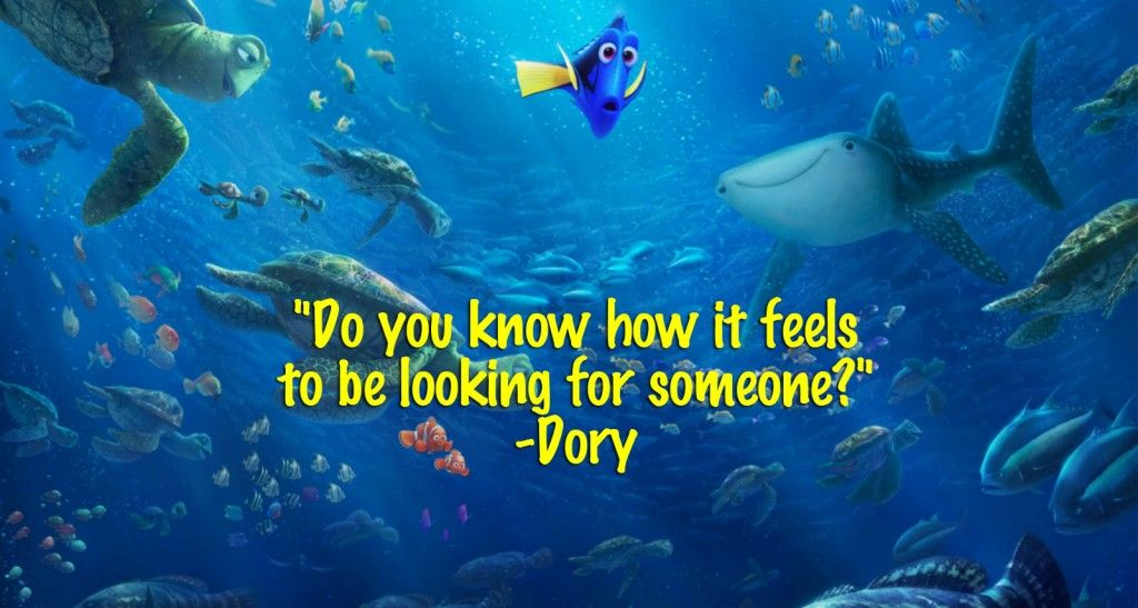 Dory Quotes Custom Finding Dory Quotes  Entire List Of The Best Movie Lines In The . Review