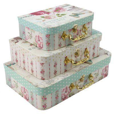tricoastal-pretty-storage-boxes-set-of-three-fleurs  sc 1 st  Pinterest & tricoastal-pretty-storage-boxes-set-of-three-fleurs | ????? ...